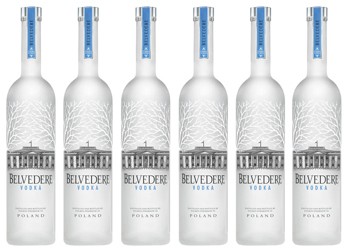 Lot de 6 Vodkas Belvedere 70cl