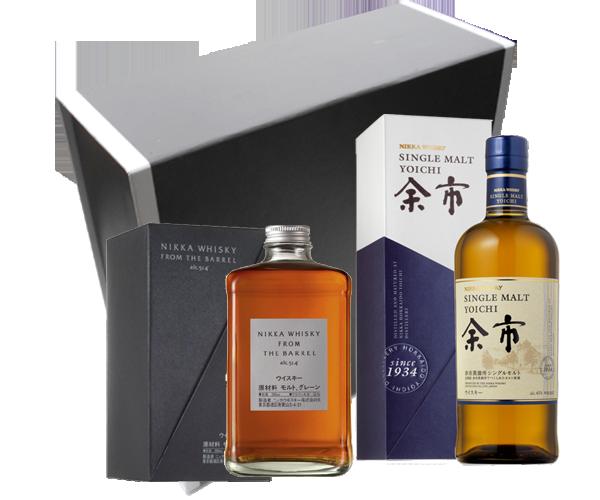 Coffret Whiskys japonais best sellers - Nikka From the Barrel & Yoïchi Single Malt.