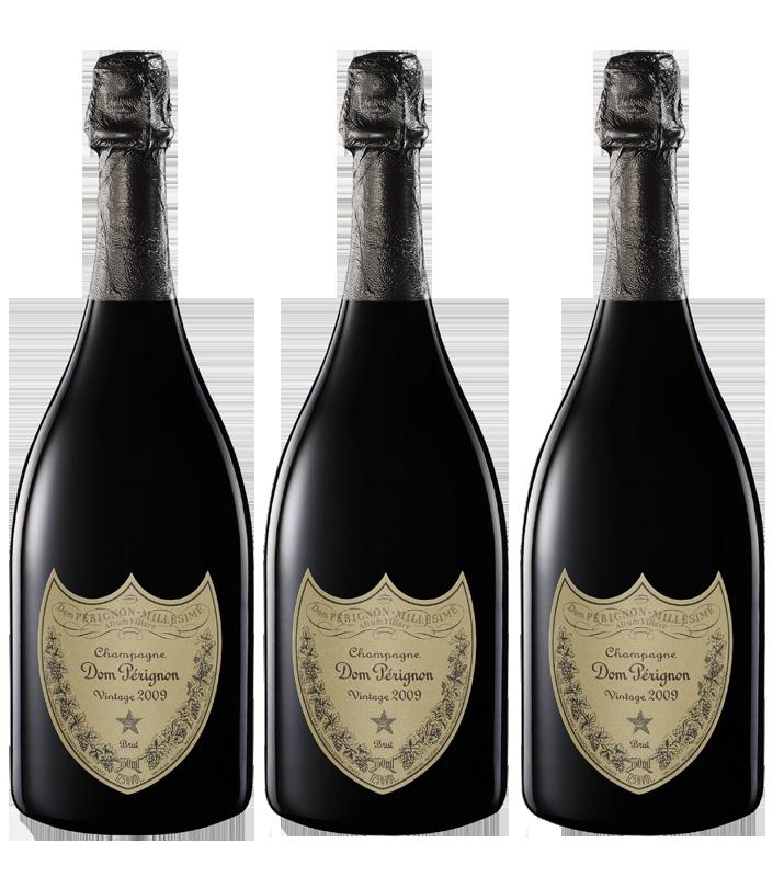 Lot 3 Champagnes Dom Pérignon Vintage 2009 75cl