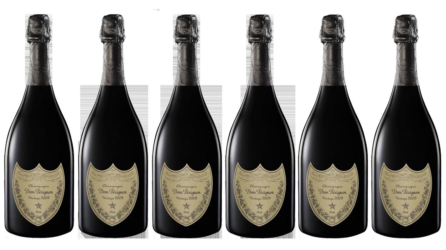 Lot 6 Champagnes Dom Pérignon Vintage 2009 75cl