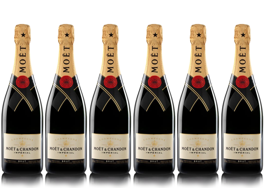 Lot 6 Champagnes Moët & Chandon Brut Moët Imperial 75cl