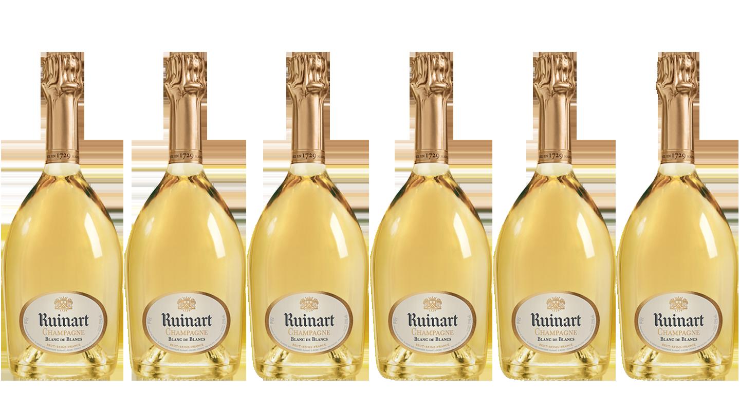 Lot 6 Champagnes Ruinart Blanc de Blancs 75cl