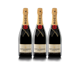 Lot 3 Champagnes Moët & Chandon Brut Moët Imperial 75cl