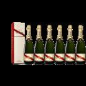 Lot 6 Champagnes Mumm Brut Cordon Rouge 75cl avec etuis