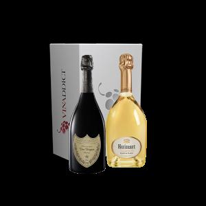 Coffret Champagne - Dom Pérignon 2010 et Ruinart Blanc de blancs