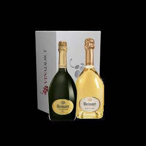 Coffret Champagne Ruinart - R de Ruinart brut et Ruinart Blanc de blancs