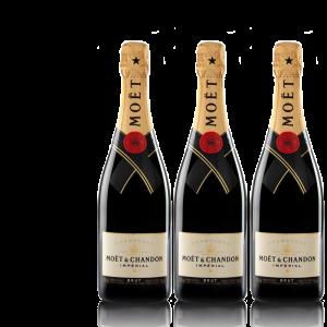 Lot 3 Champagnes Moët & Chandon Brut Moët Imperial 75cl