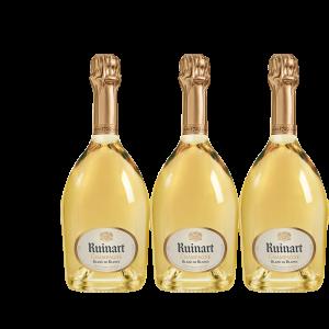 Lot 3 Champagnes Ruinart Blanc de Blancs 75cl