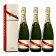Lot 3 Champagnes Mumm Brut Cordon Rouge 75cl avec étuis